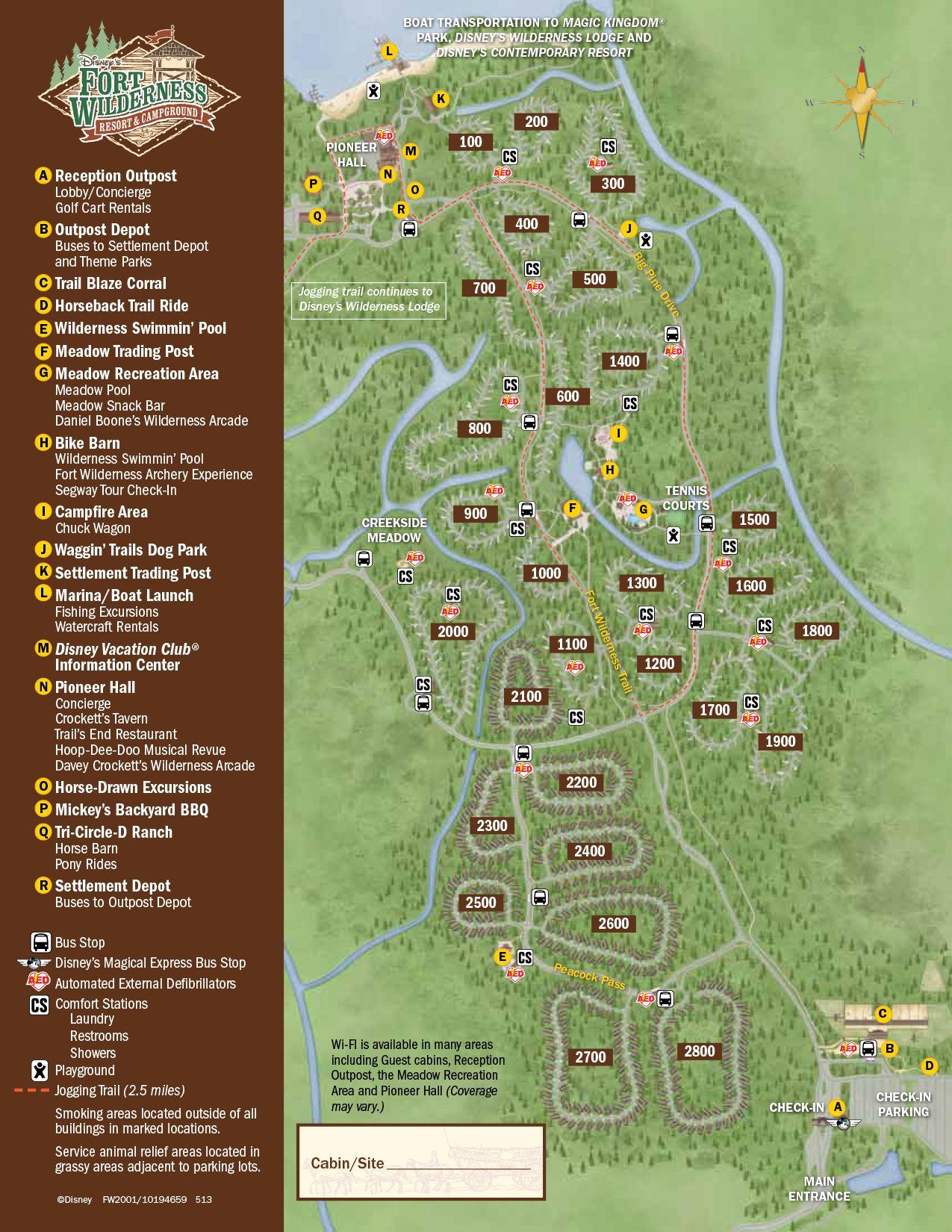 Fort Wilderness Resort Map | Disney World Maps | Pinterest | Fort ...