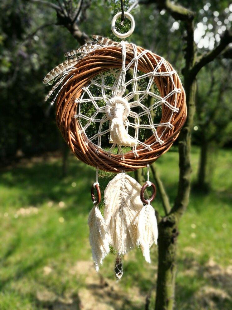 My next work in progress is a mini dream catcher pendant