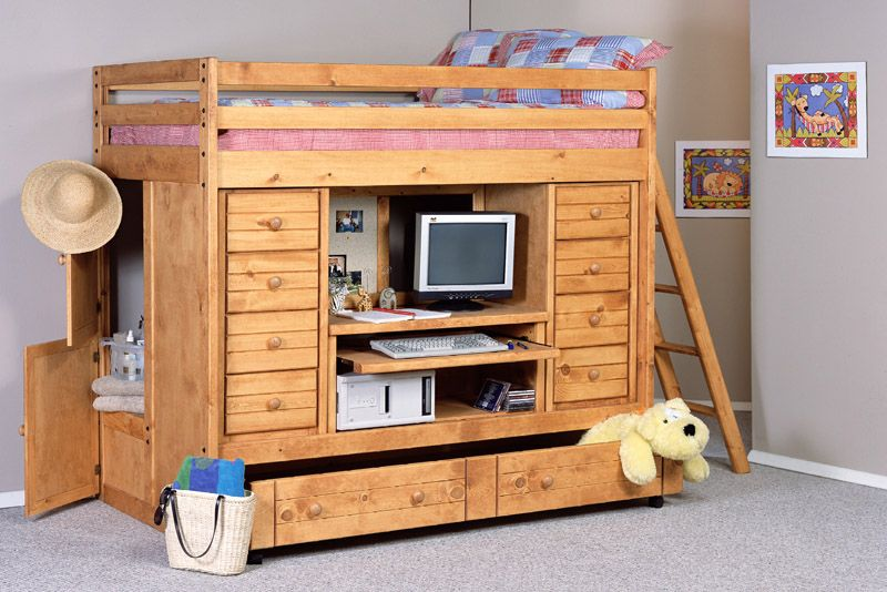 See A Larger Picture Of Bayview Twin Rodeo Loft Bed Loft