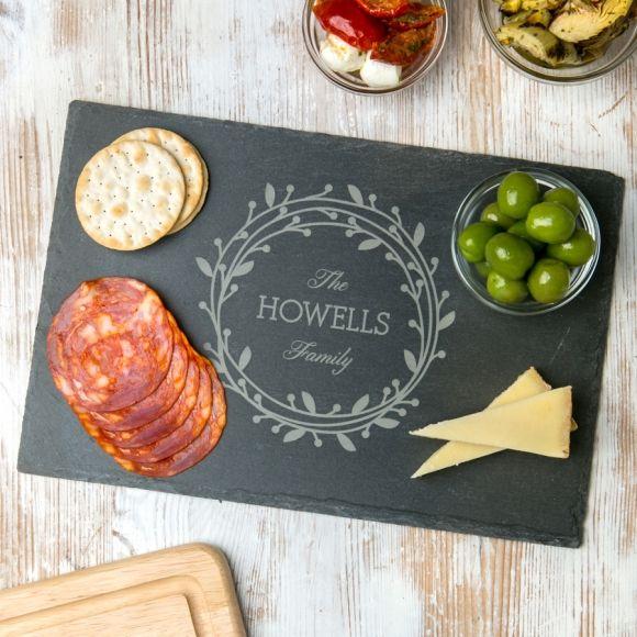 Personalised family mistletoe slate chopping board hardtofind personalised family mistletoe slate chopping board hardtofind solutioingenieria Choice Image