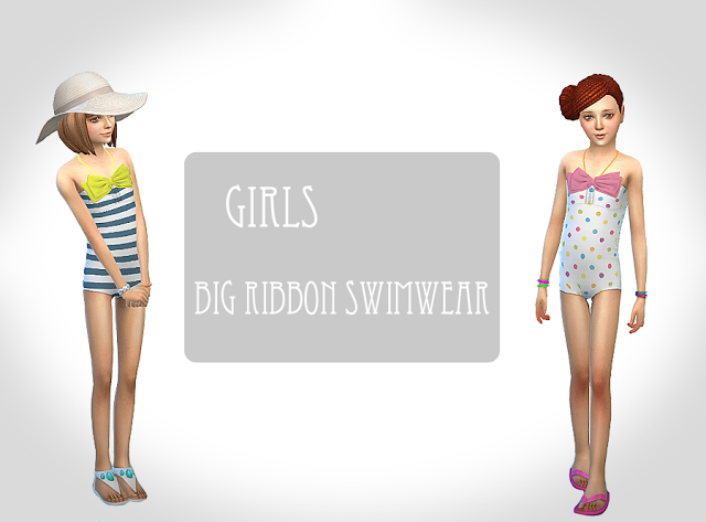 Sims 4 CC's - The Best: Swimsuit for Kids by Chocolatte sims
