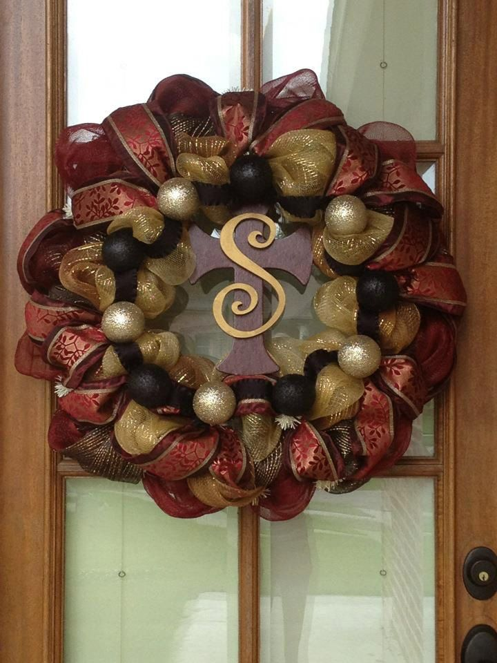 Personalized Large Door Wreath By Natrader6 On Etsy, $75.00