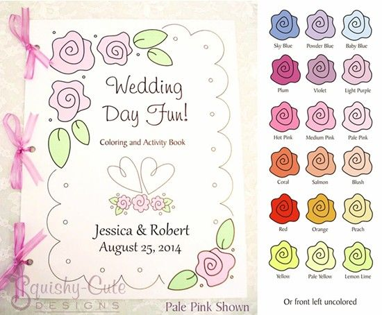 Personalized wedding coloring books kids wedding favors wedding activity books