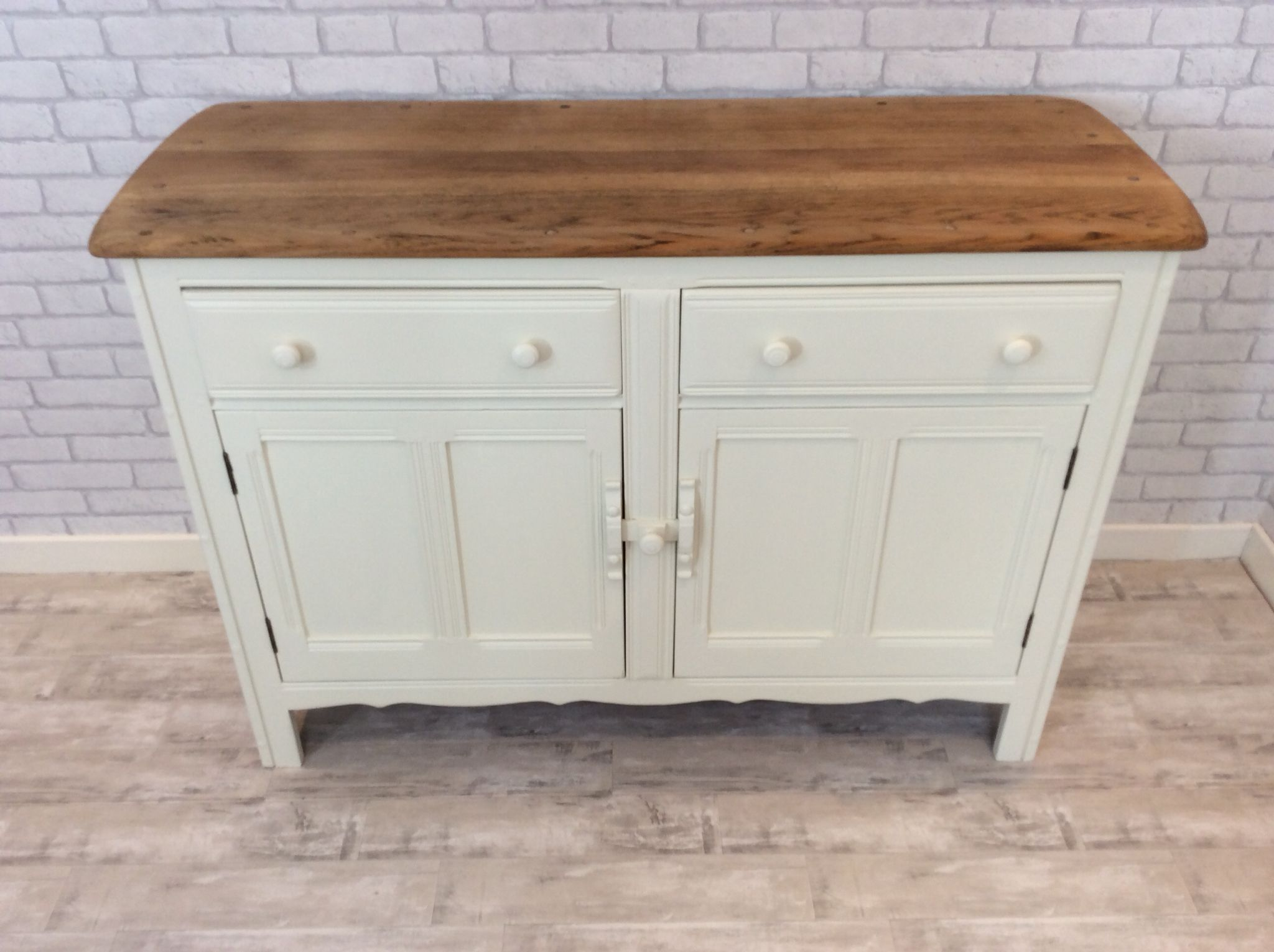 Original Ercol Sideboard Stripped And Painted