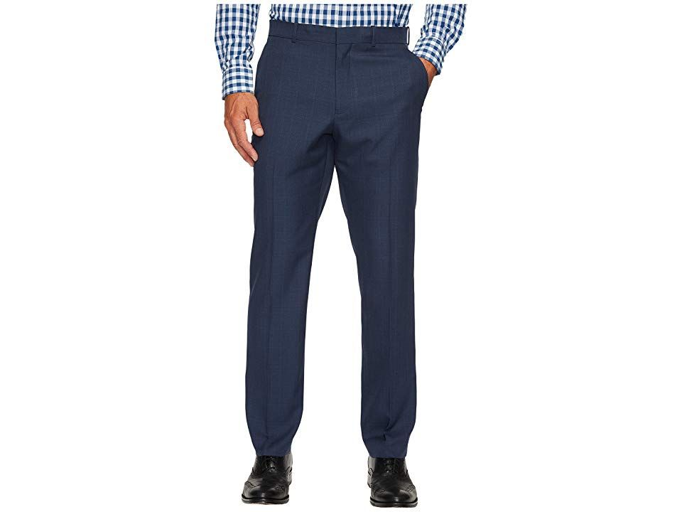 Perry Ellis Portfolio Windowpane Performance Portfolio Pant Mood Indigo Mens Dress Pants Put in an order for a new name plate because youre corner office bound in this ha...