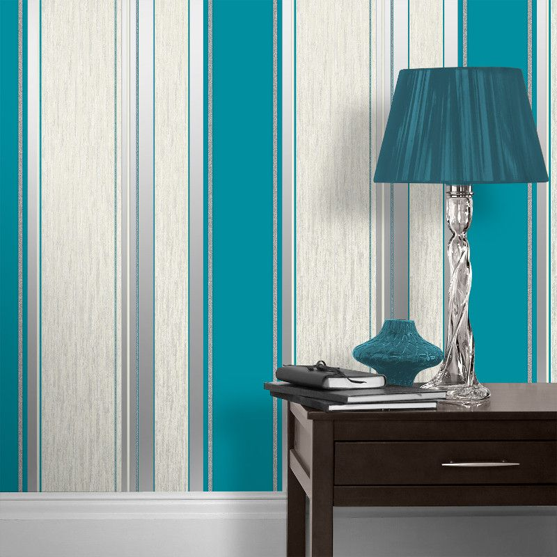 Perfect The Eye Catching Vymura Synergy Glitter Stripe Wallpaper Features A Modern  Striped Effect And Comes In A Vibrant Red Colour Scheme. Part 14