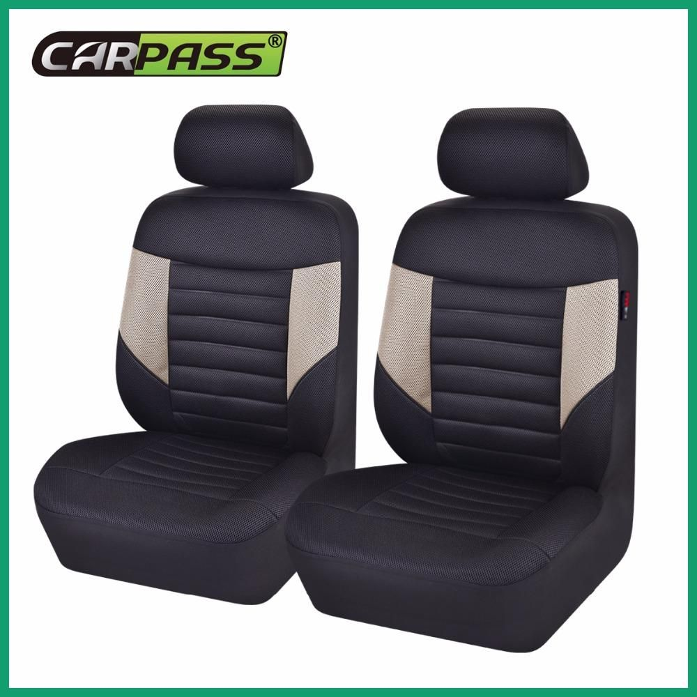 Car Pass Seat Covers Sandwich 5 Color Universal Blue Black Beige Red Gray Front