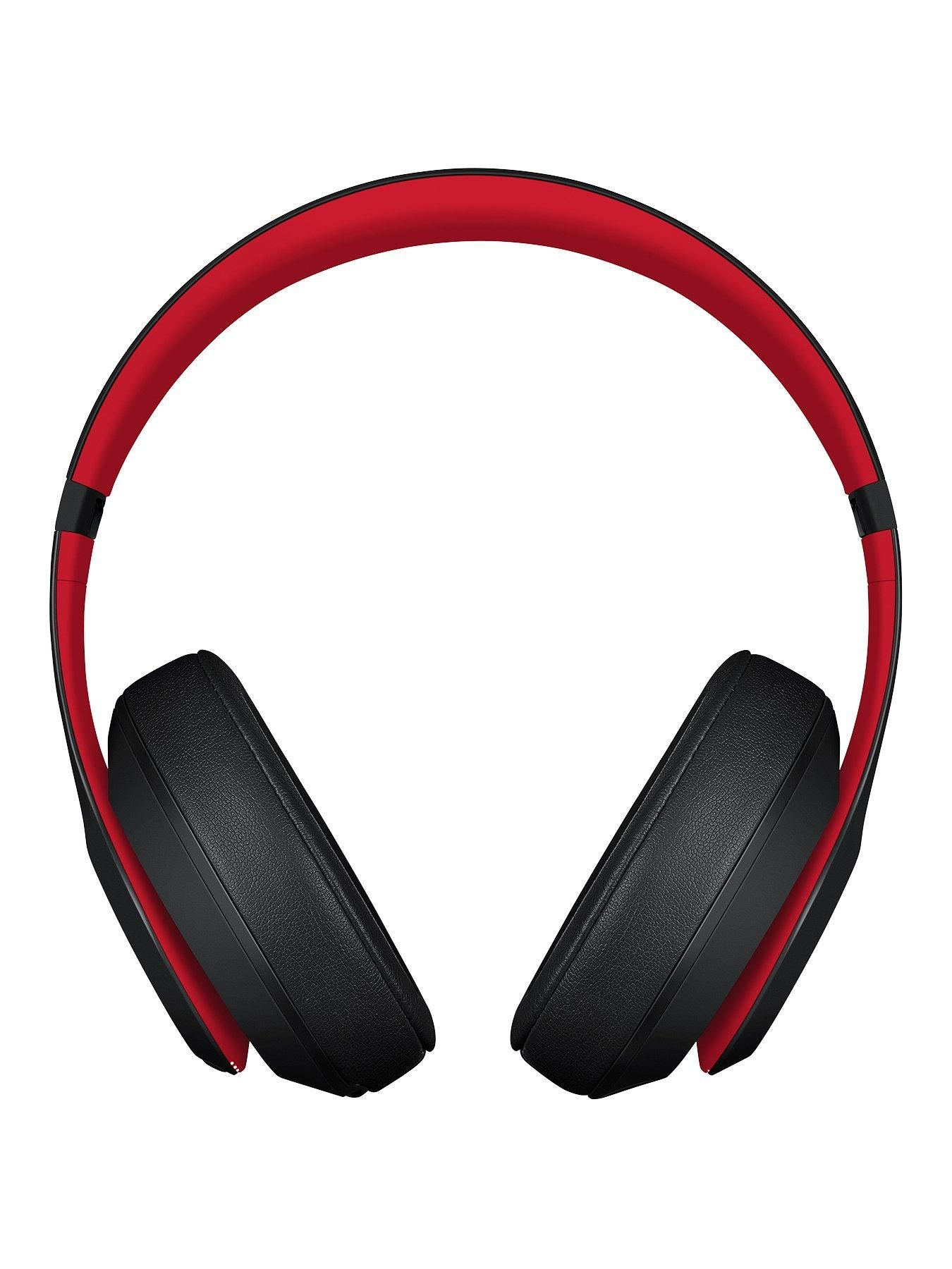 Beats By Dr Dre Studio 3 Wireless Headphones The Beats Decade Collection Defiant Black Red One Colour Wireless Headphones Headphones Beats By Dr