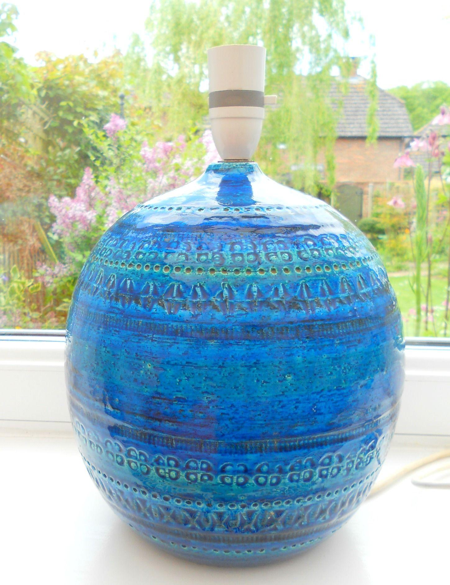 Vintage 1960s Bitossi Aldo Londi Large Lamp Base Sold On My Ebay Site Lubbydot1 Large Floor Lamp Vintage Pottery Pottery