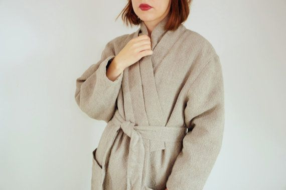 Warm linen coat Autumn linen coat Oversized linen jacket Linen coat Natural linen jacket Linen jacket with lining CollectionWN