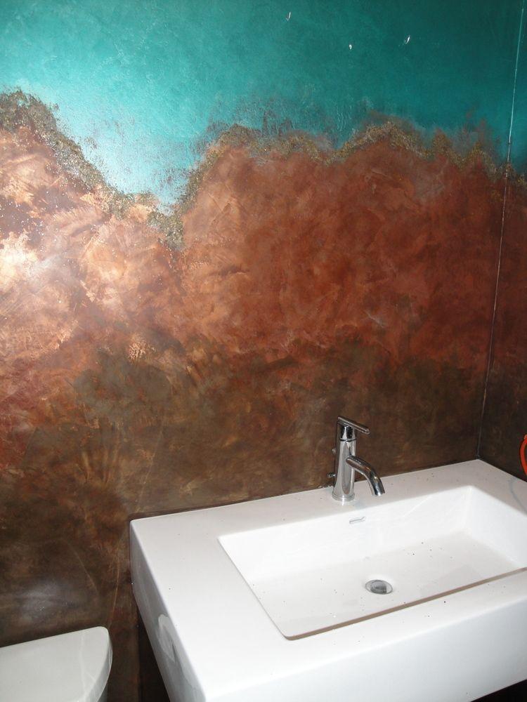 Venetian Plaster Wall Finish by RareBirdArt (Amber Cunningham)