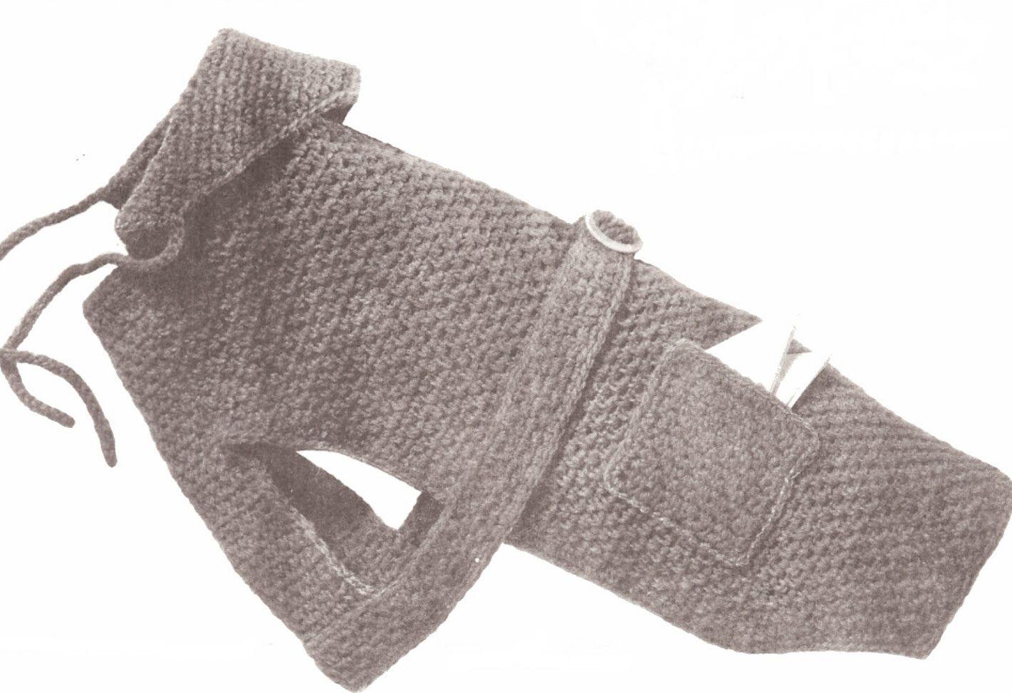Dog Sweater Hood Coat Puppy Pet Crochet Pattern All Szs | eBay ...
