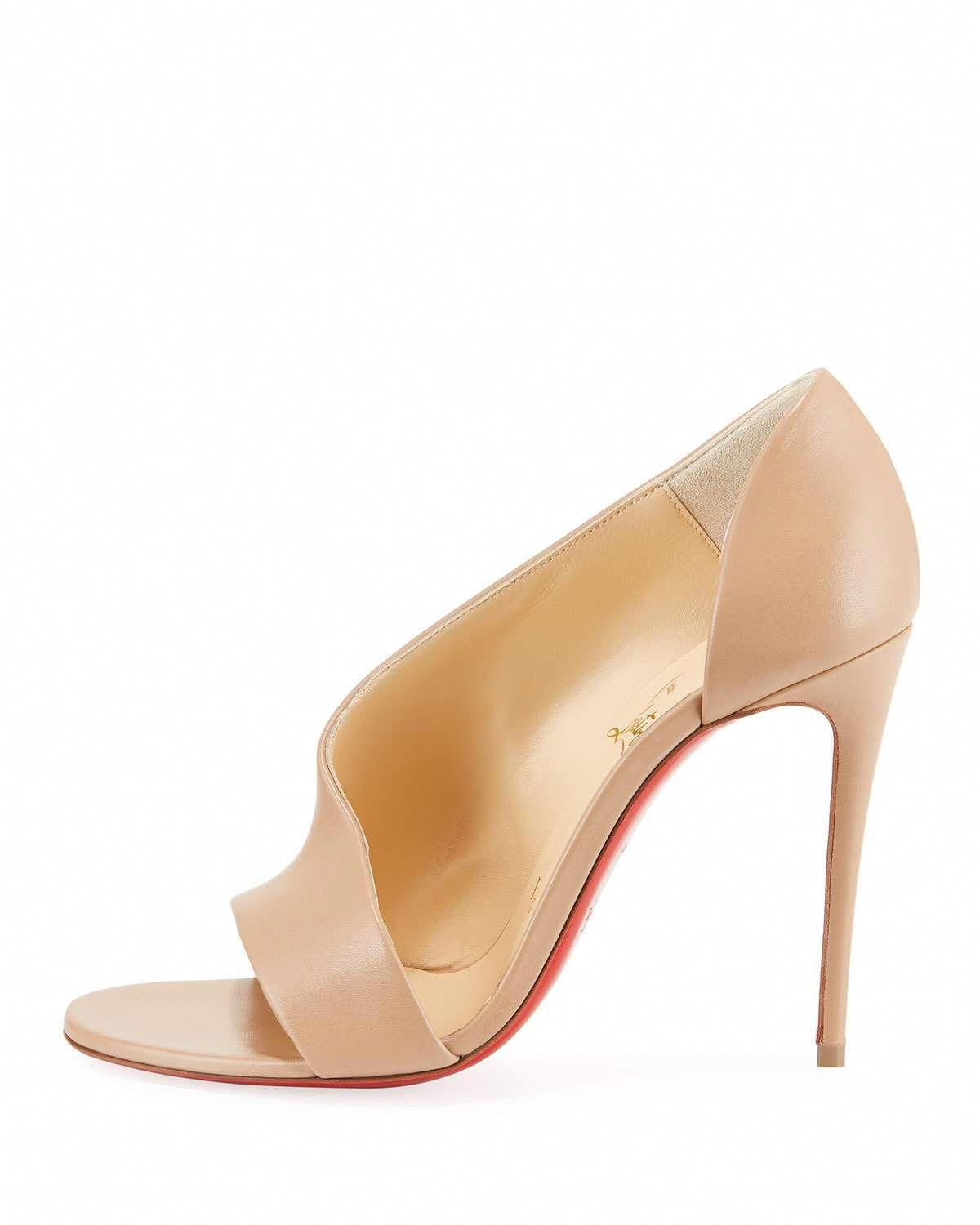 143eb7dd1 Christian Louboutin Phoebe Asymmetric Leather Red Sole Pumps   ChristianLouboutin