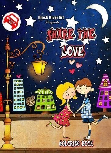 Amazon Share The Love Travel Size Coloring Book 9781544147291 Karlon Douglas Books