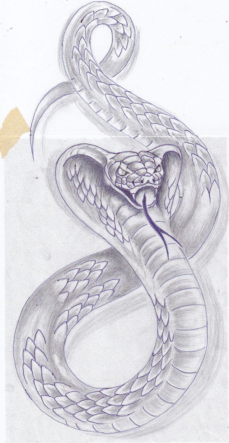 Kobra Body Art Schlange Zeichnung Kobra Tattoo Schlange