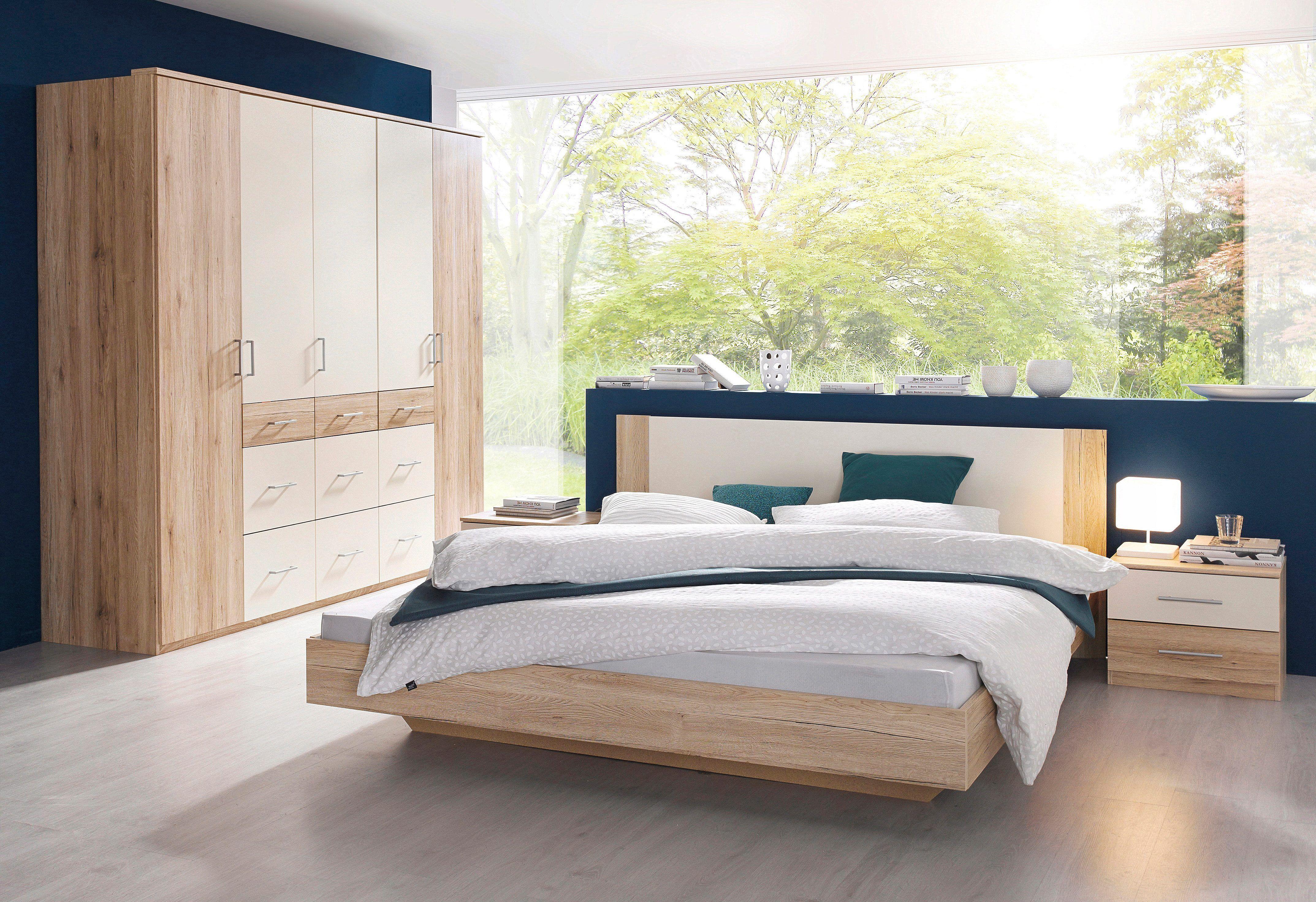 Schlafzimmer Set 4 Tlg Beige Mit 5 Trg Kleiderschrank Mit