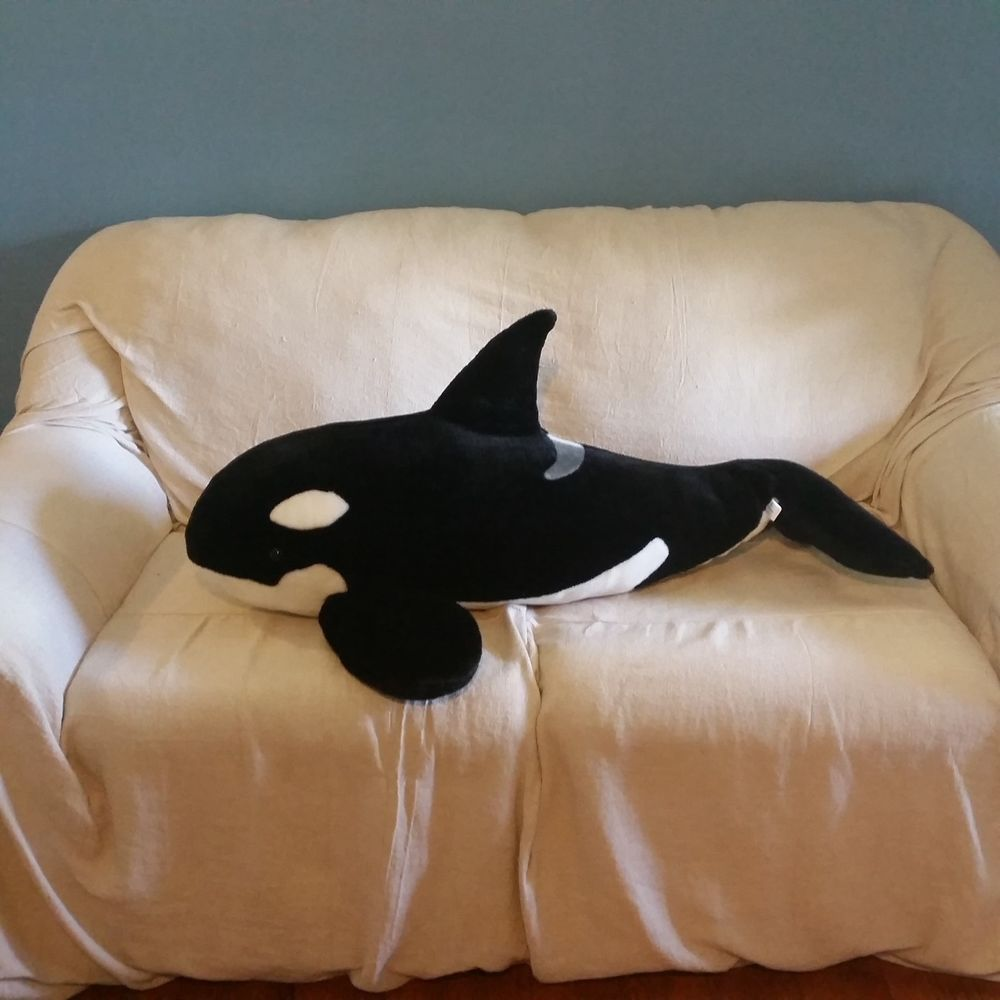 Seaworld Plush Killer Whale Huge 36 Giant Stuffed Animal Orca Large