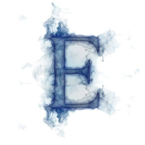 Smoke Letter E ❤ liked on Polyvore featuring letters words text