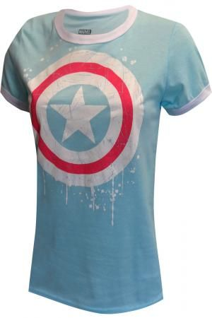 2806d58a9a5 Marvel Comics Ladies Captain America Tee Shirt
