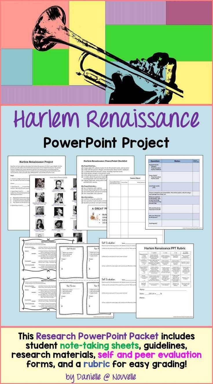 Harlem Renaissance PowerPoint Project – Harlem Renaissance Worksheet