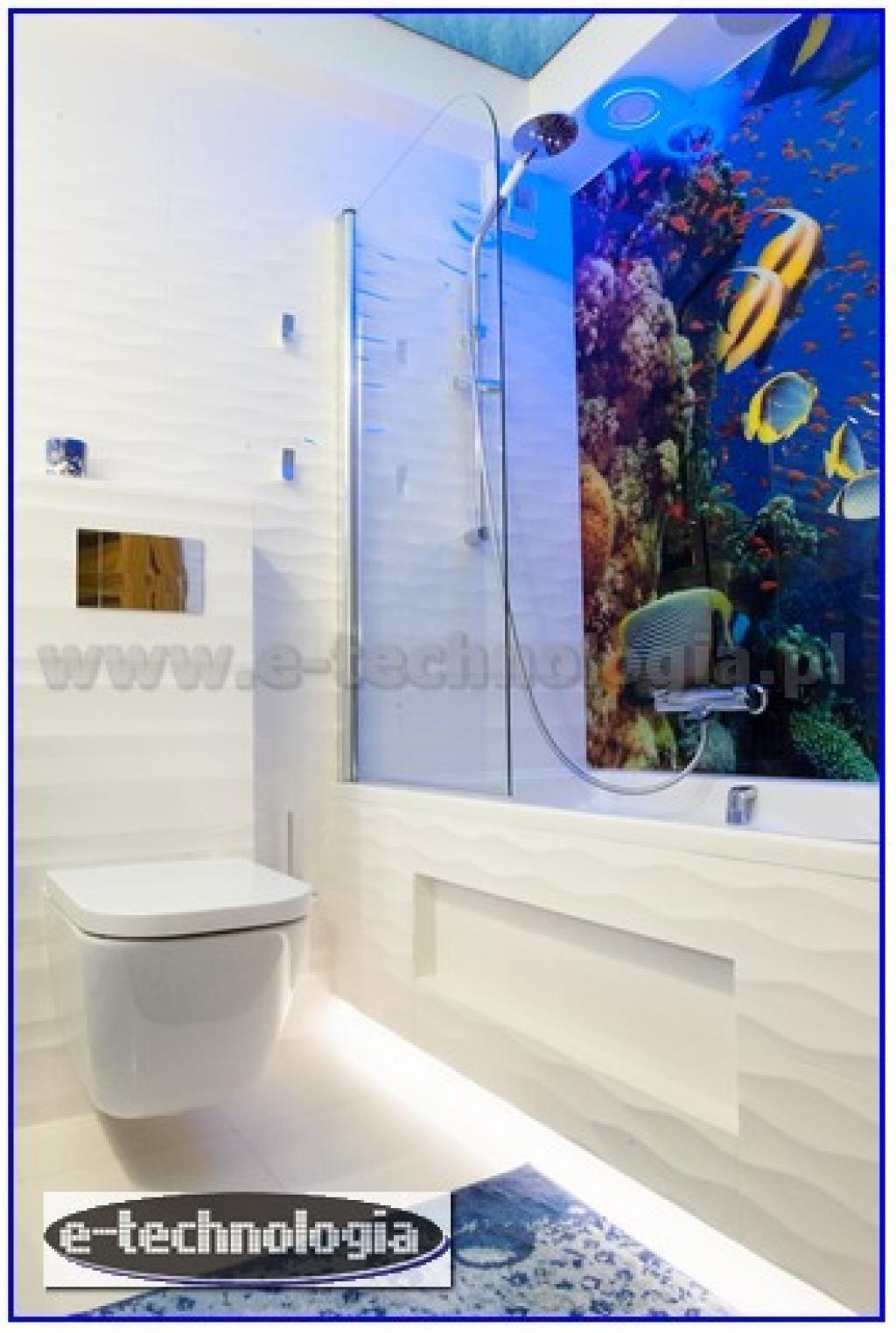 Aranżacja do łazienki lampki do łazienki gwieździste