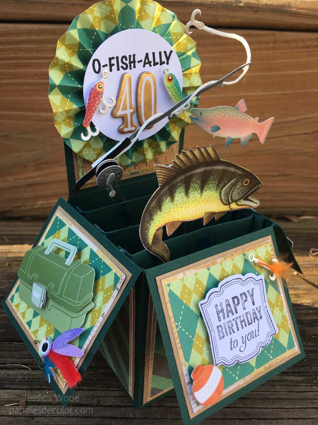 Fishing 40th Birthday Card In A Box For Men 40th Birthday Cards Birthday Cards For Men Fishing Birthday Cards