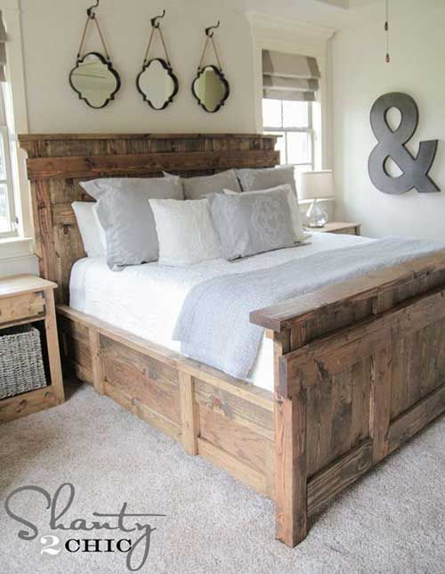 DIY King Size Bed Free Plans   For the Home   Pinterest   Camas ...
