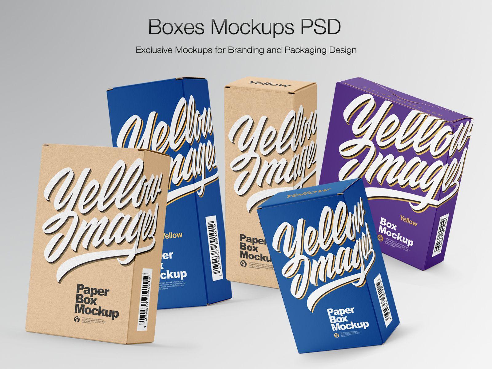 Download Boxes Mockups Psd