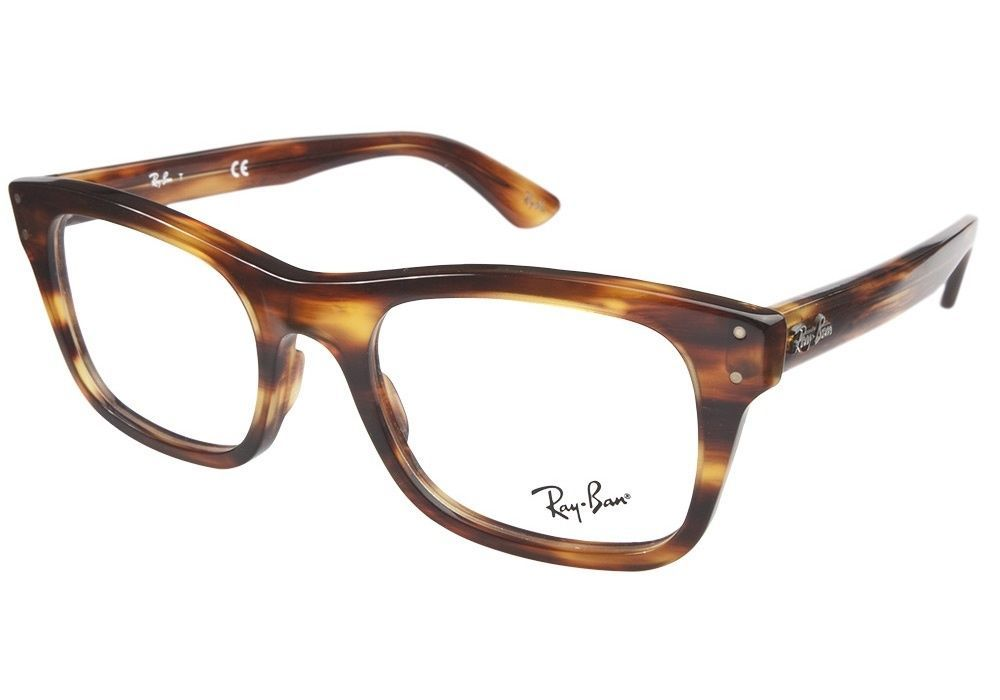 NEW RAY BAN PLASTIC TORTOISE MEN WOMEN RX EYEGLASSES RB 5227 2144 52 ...
