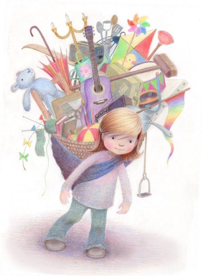 Drawings with a taste of childhood by Kathy Hare