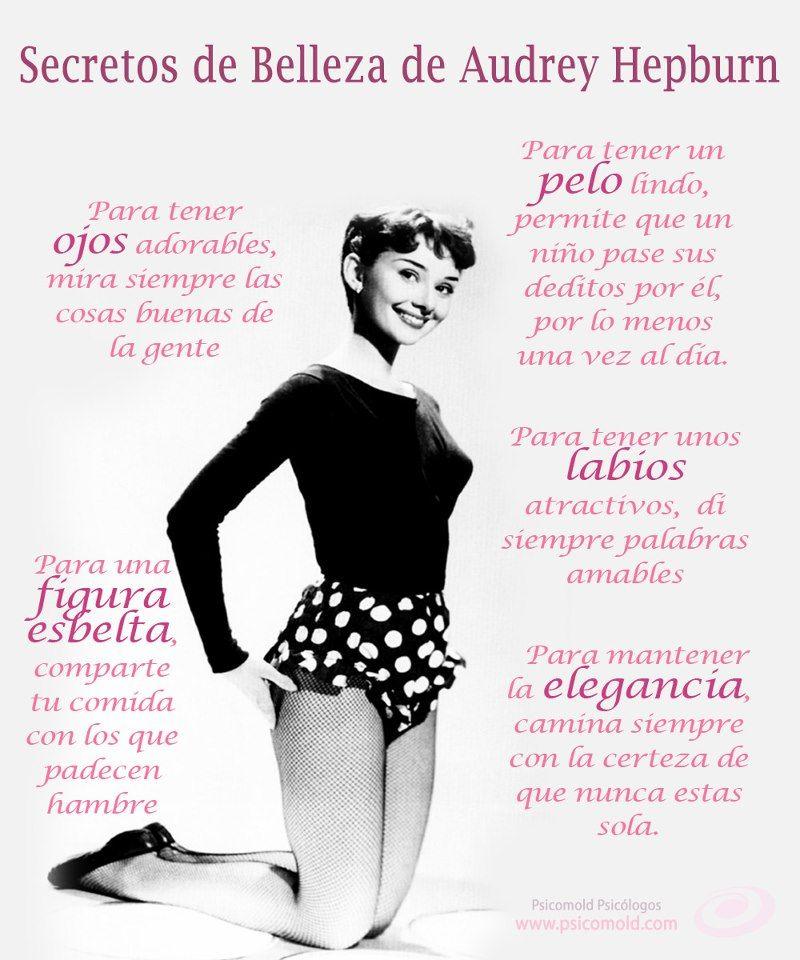 Secretos De Belleza De Audrey Hepburn Frases De Belleza