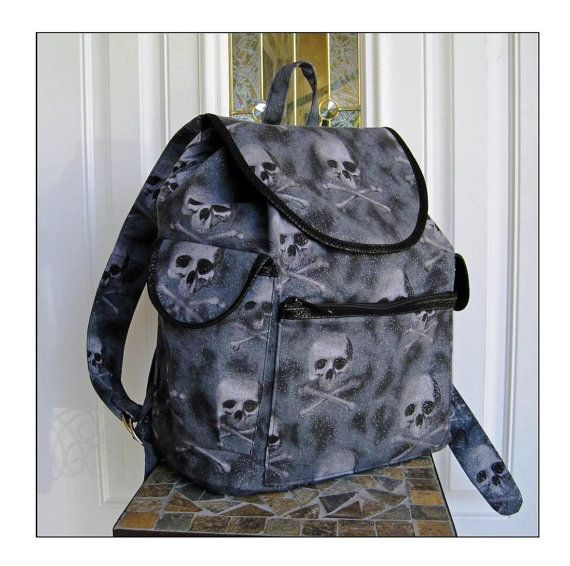 Skull Backpack with Canvas Lining by UrbanAspect, $57.00