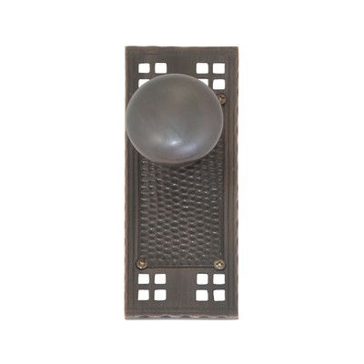 BRASS Accents Double Dummy Netropol Door Knob Finish:
