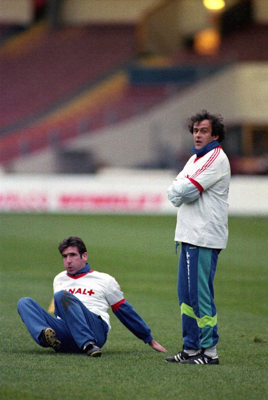 Eric Cantona et Michel Platini (France)