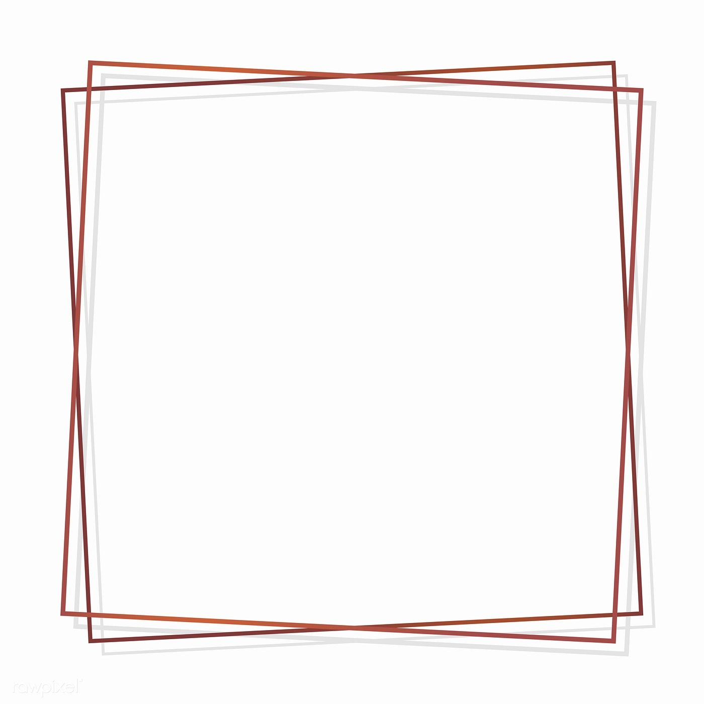 Square Bronze Frame On White Background Vector Free Image By Rawpixel Com Sasi In 2020 Poster Background Design Instagram Frame Template Vector Free