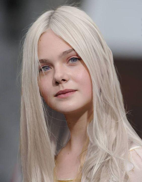a cool blonde with fair skin // #blonde #fairskin #ellefanning