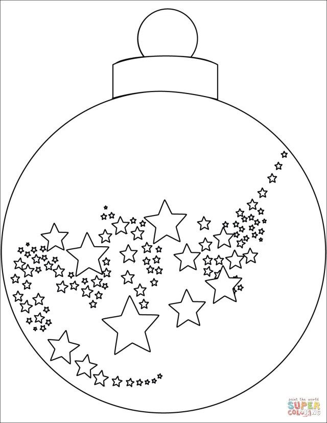 simple christmas ornament coloring pages - photo#18