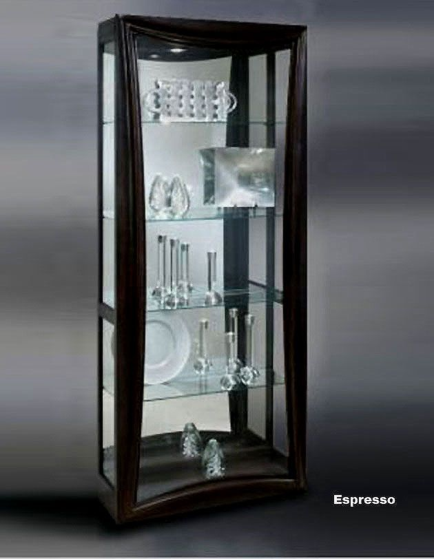 Contemporary Curio Cabinets Hero Curio Cabinet In Espresso | Modern Curios | Furniture