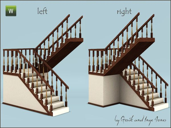 Gosik S Cottage Half Landing Stairs Sims Sims 3 Sims Building
