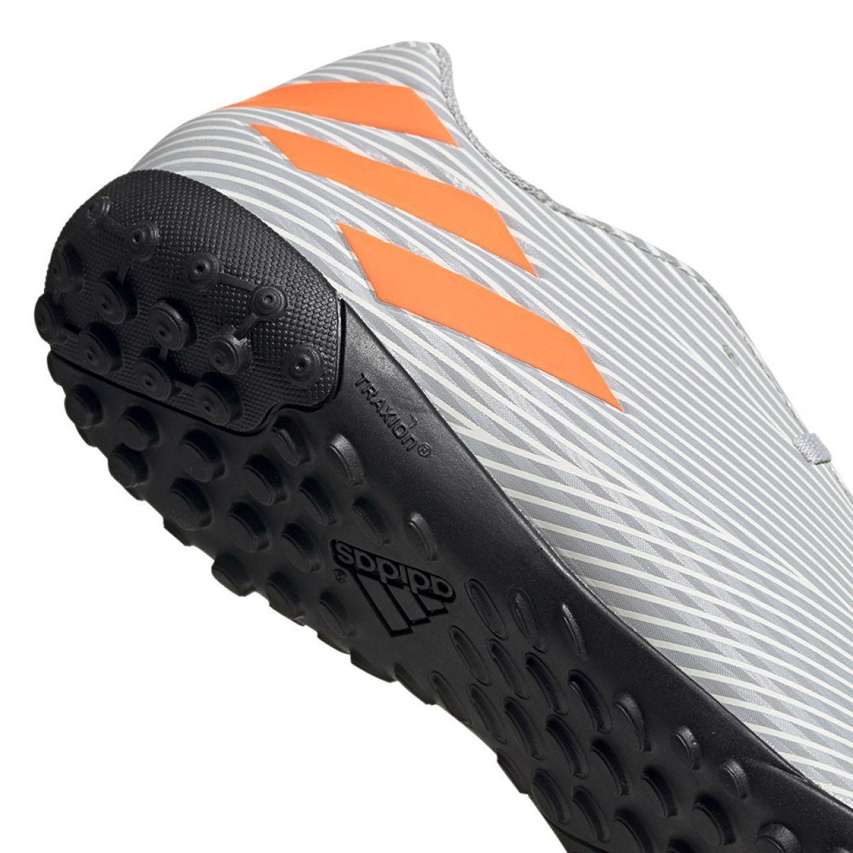 Buty Pilkarskie M Adidas Nemeziz 19 4 Tf Ef8294 Szare Wielokolorowe Football Shoes Football Adidas