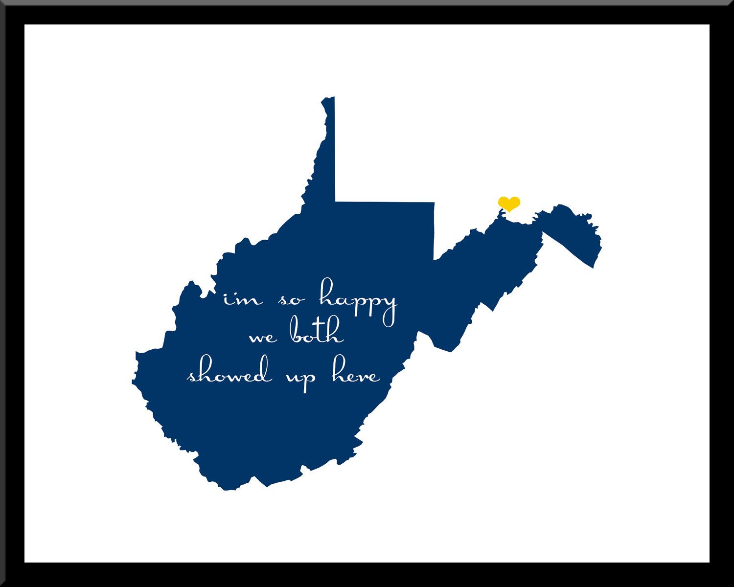West Virginia State Silhouette Design By
