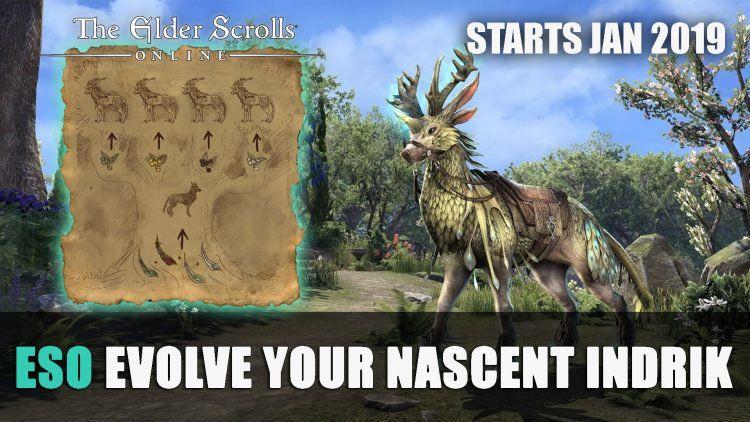 Permalink To Eso How To Evolve Your Nascent Indrik Mount Evolve Mounting Elder Scrolls Online