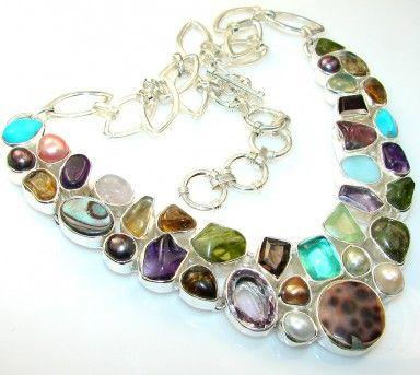 Natural Silver Leaf Jasper Sterling Silver necklace