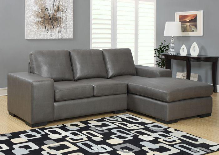 Sofa De Repos En Cuir Polyurthane Gris Fonc Dark Gray