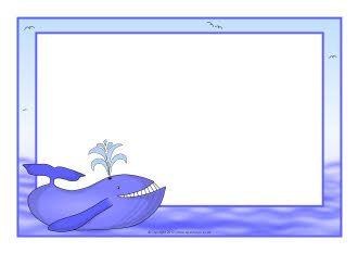 Whale A4 page borders (SB7471) - SparkleBox