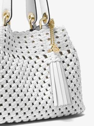 b9481f4ce0310a ... low price michael michael kors brooklyn small woven leather tote  handbags saucy bags pinterest leather tote