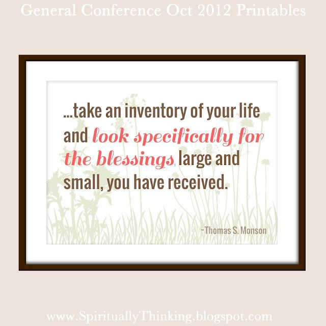and Spiritually Speaking: General Conference Printables - October ...