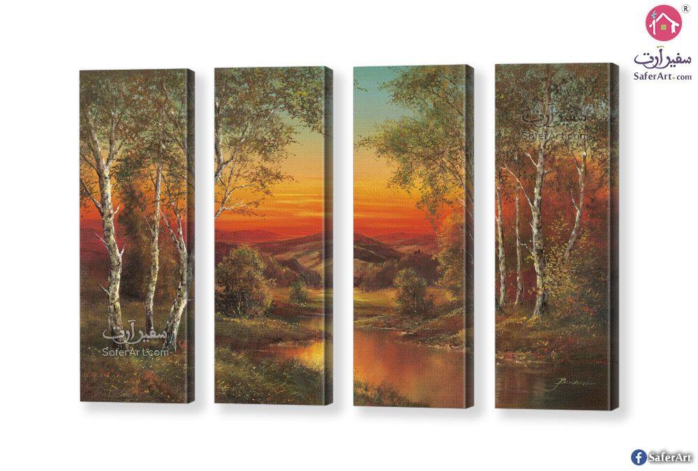 لوحة فنية منظر طبيعي سفير ارت للديكور Landscape Wall Art Wall Art Landscape Walls