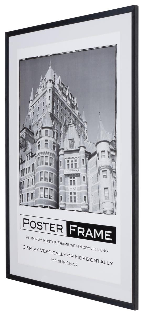 27 x 40 Movie Poster Frame for Wall, Rear Load, 2 Mats(Black & White ...
