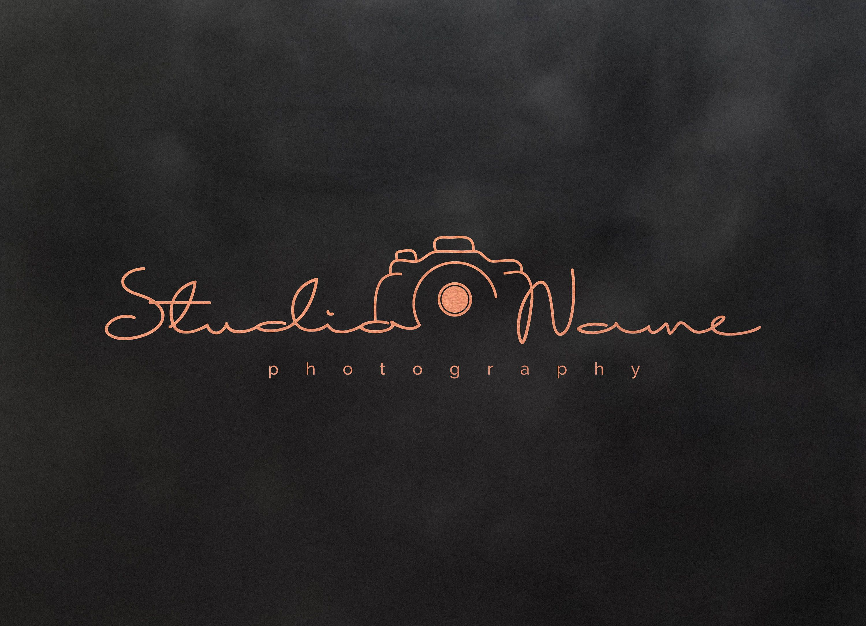 Photography Modern Camera Logo With Multiple Foil Colors
